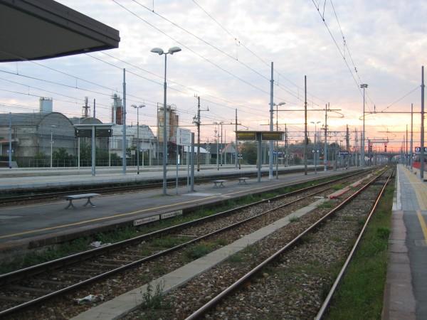 I binari della Stazione Centrale di Treviglio.