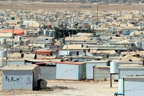 Il campo di Zaatari per rifugiati siriani, vicino ad Amman. Khalil Mazraawi/Getty Images.