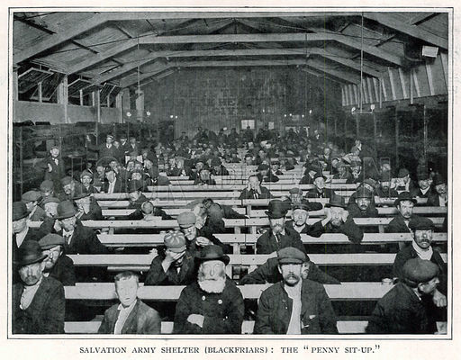 "Salvation Army Shelter (Blackfriars): The ""Penny Sit-Up"""