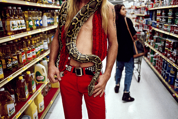Steve McCurry, Man with Snake, 1992
