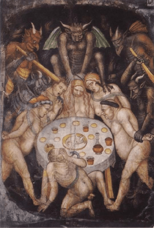 Taddeo di Bartolo, Gluttons in Hell, Cathedral of San Gimignano, 1396.